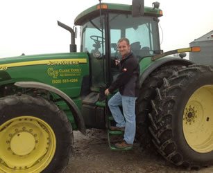 Tim Clark grows soybeans and raises beef cattle